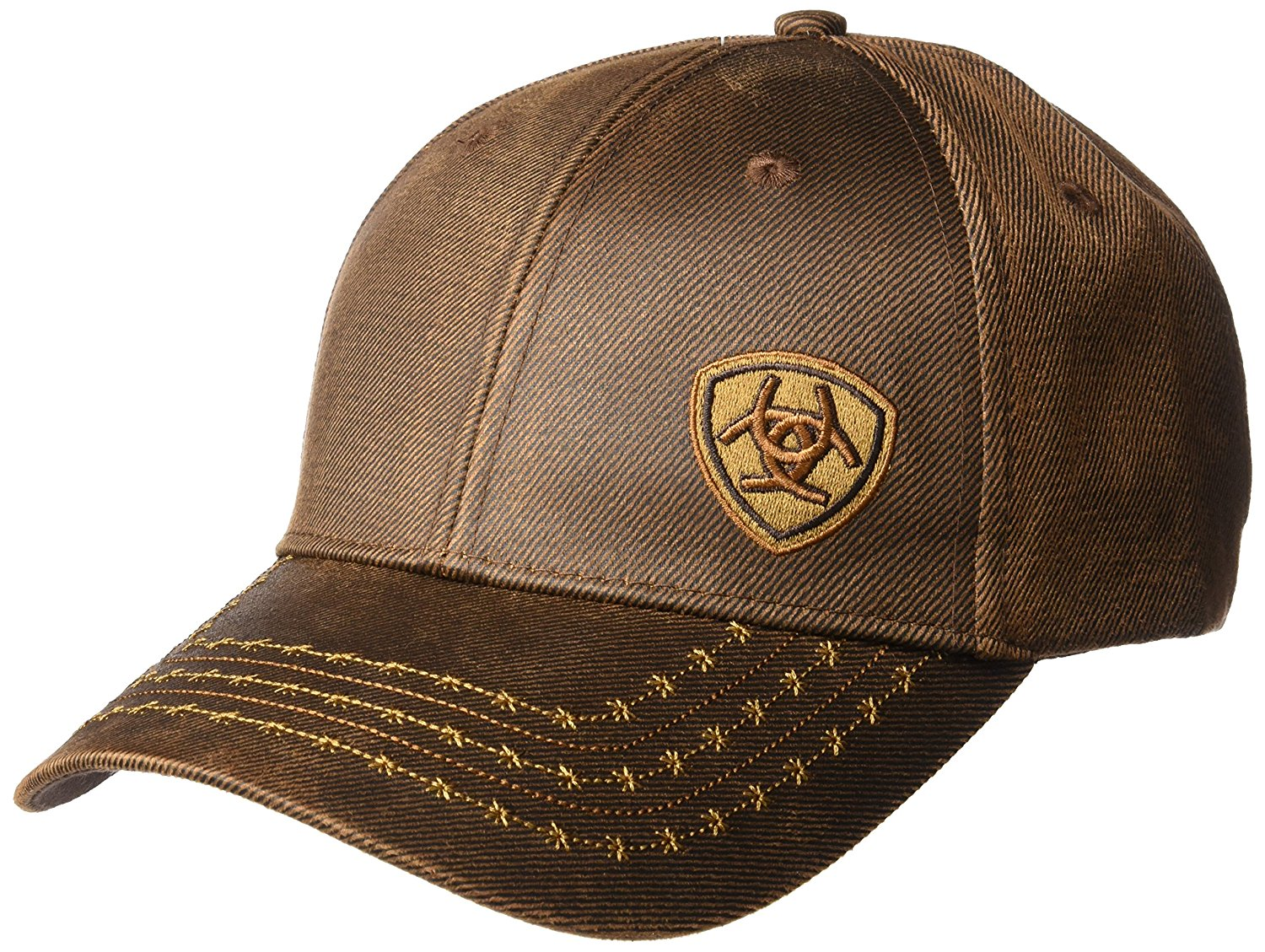Ariat Mens Full Oil Corner Logo, Brown, One Size