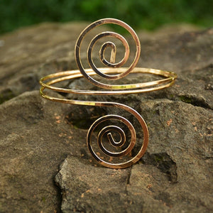 Golden Swirl Arm Cuff