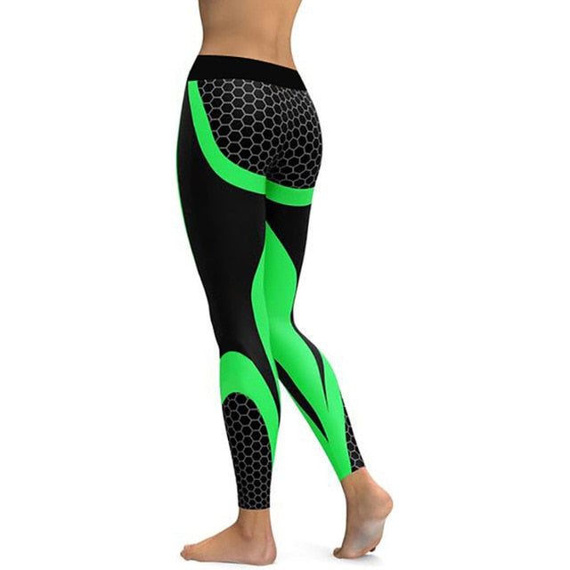 All The Right Places Leggings In Black And Green