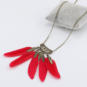 Five Feather Necklace