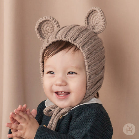 Baby & Toddler Nubomans Bear Knitting Hat - Happy Prince