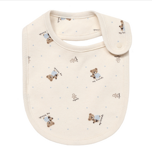 Bear Friend Newborn Baby Organic Cotton Bib - Bonjour Bear