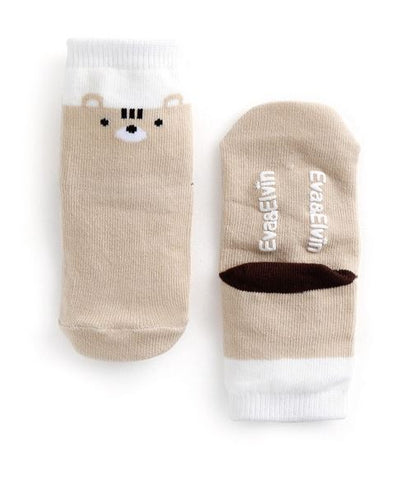 Toddler Squirrelly Fun Socks - Bonjour Bear XS to M
