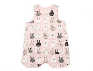Bunny Pink White Gray Sleep Vest for Toddler Girls 2-3T - Bonjour Bear
