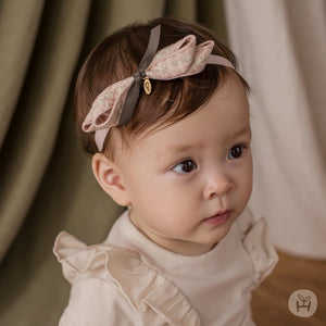 Infant and Toddler Chloe Pink Ribbon Hairband - Happy Prince