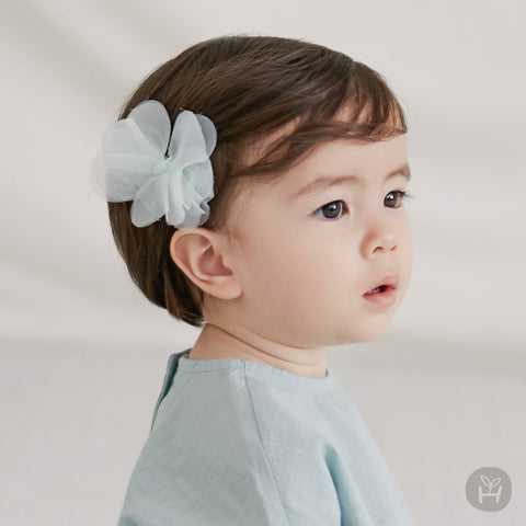 Toddler Baby Girl's Coenne Mint Green Layered Bow Ribbon Hairpin 3-24M - Bonjour Bear