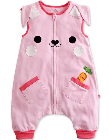 Baby Infant Pink Cotton Rabbit Sleepsack - Bonjour Bear 12M to 2T