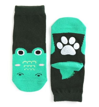 Green Crocodile Chomp Socks for Baby and Toddler Boys 0-5T - Bonjour Bear