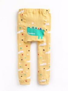 Crocodile Yellow Spats Leggings for Baby and Toddler Girls and Boys 10-24M - Bonjour Bear