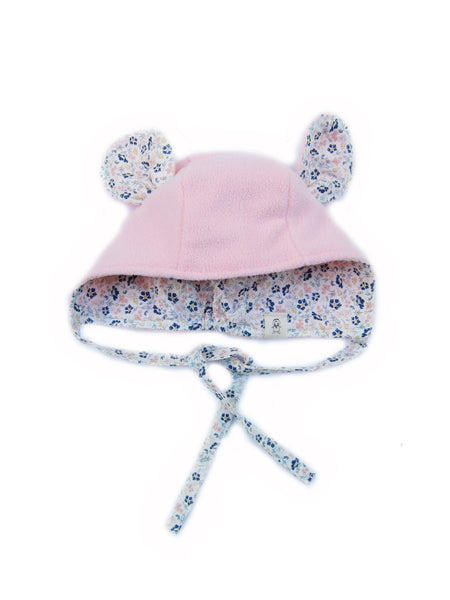 Pink Flower Mouse Bonnet - Bonjour Bear