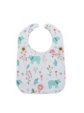 Forest Garden Baby Bib for Baby Boys and Girls - Bonjour Bear