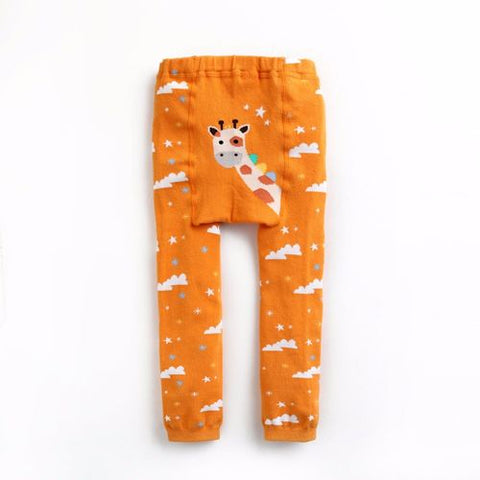 Baby & Toddler Orange Giraffe Tights - Bonjour Bear 10-24M