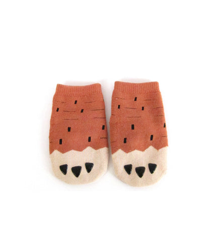 Little Brown Monster Feet Socks for Baby Boys and Girls 6-24M - Bonjour Bear