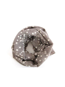 Toddler Girl's Star Scarf Gray - Bonjour Bear