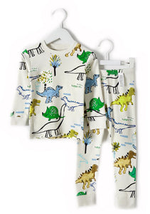 Jurassic Park Dinosaur Long Sleeve Korean Pajamas for Toddler Boys 2-3T - Bonjour Bear