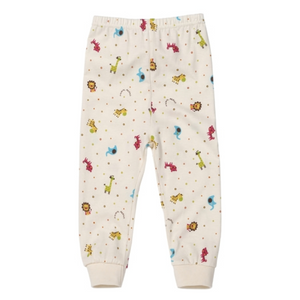 Baby Newborn Colorful Mini Zoo Animal Organic Pants 0-6M - Bonjour Bear