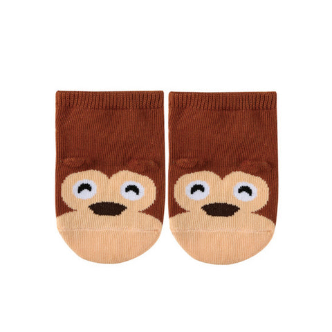 Brown Monkey Non-slip Socks for Baby and Toddler Boys and Girls 1-3T - Bonjour Bear