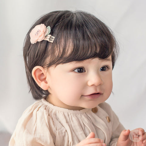 Baby and Toddler Girl's Raju Orange Mini Flower Hairpin