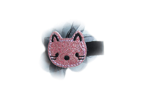 Toddler Girl's Pink Glitter Cat Hair Pin - Bonjour Bear