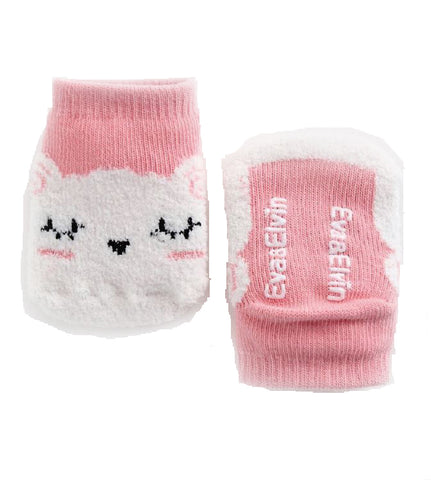 Baby and Toddler Girl's Pink Cat Sleeping Socks - Bonjour Bear NB to 5YR