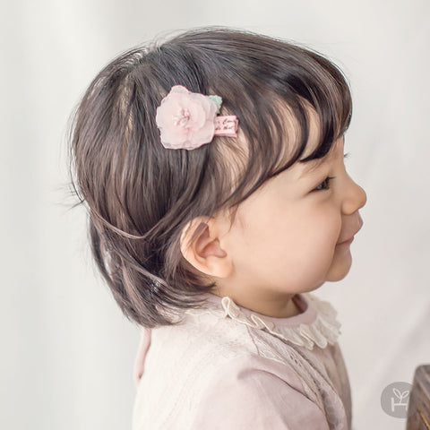 Baby and Toddler Girl's Raju Pink Mini Flower Hairpin