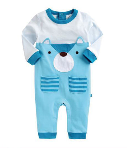 Baby Boy's Polar Bear Onesie - Bonjour Bear NB to 12M