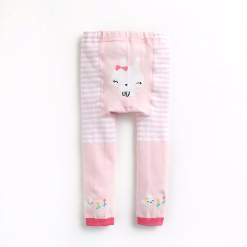 Pink Bunny Bow Tights for Baby and Toddler Girls 10-24M - Bonjour Bear