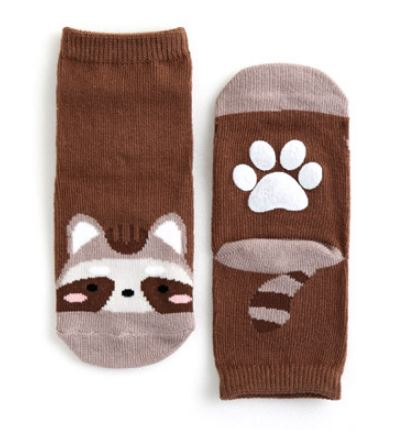 Baby and Toddler Raccoon Socks - Bonjour Bear NB to 5YR