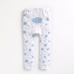 Baby & Toddler Rainy Day Cloud Tights - Bonjour Bear 10-24M