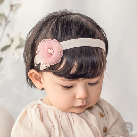 Toddler Girl's Raju Peach Pink Flower Hairband