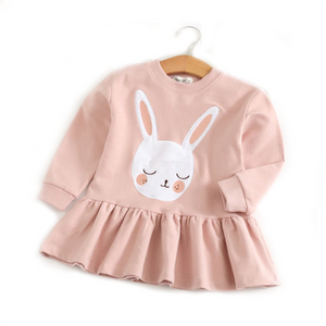 Sleeping Bunny Pink Long Sleeve Dress