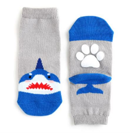 Baby and Toddler Boy's Shark Socks - Bonjour Bear NB to 5YR