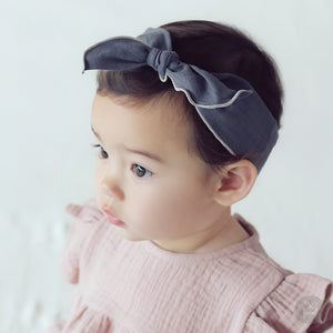 Baby and Toddler Girl's Sharu Gray Wire Hairband - Bonjour Bear