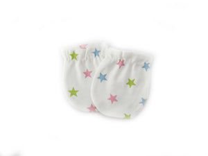 Baby Infant Girl Multicolor Star Baby Mittens