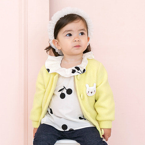 Baby and Toddler Girl's Sugar Bunny Long Sleeve Cardigan - Littletini Bonjour Bear