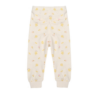 Baby Newborn Yellow Chicks Organic Pants - Bonjour Bear 3M to 6M
