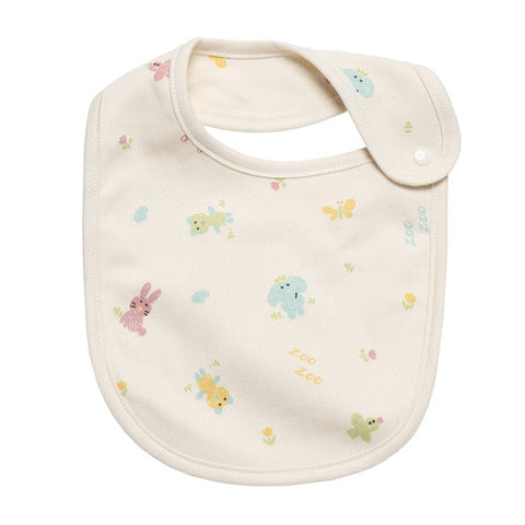 Newborn Infant Baby Crayon Animal Organic Bib - Bonjour Bear