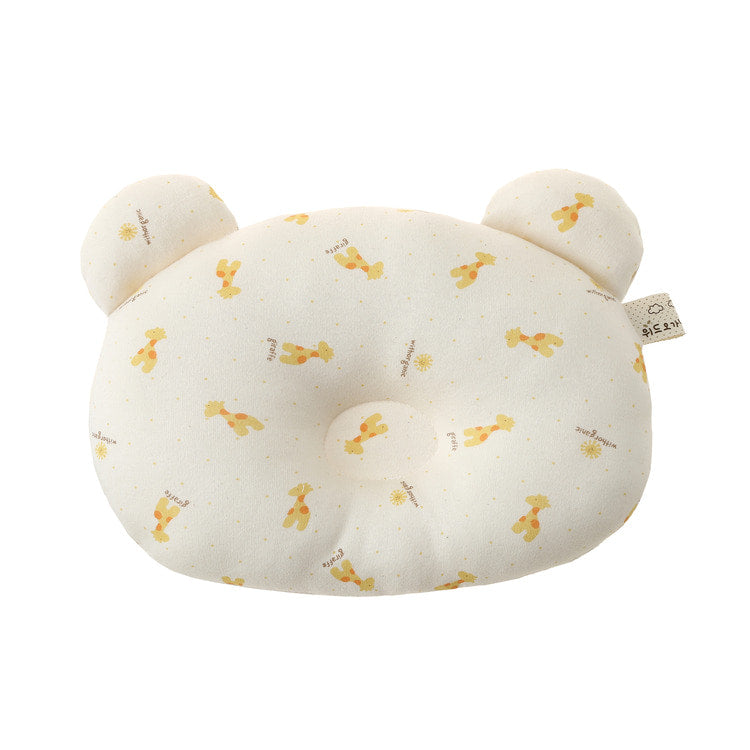 Bear Face Shaped Giraffe Organic Newborn Baby Pillow - Bonjour Bear