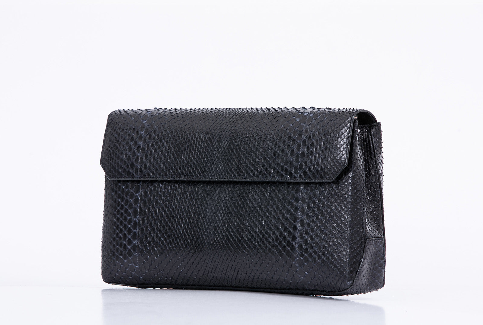 Large Classic Python Clutch