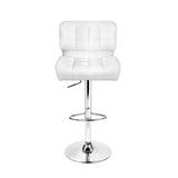 Set of 2 Leather Bar Stools - White - Newstart Furniture