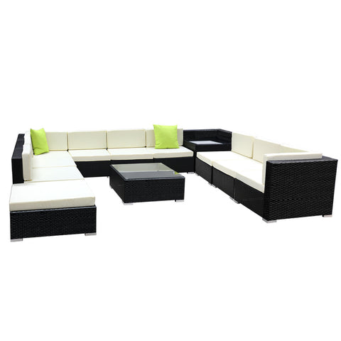 Gardeon 12PC Outdoor Furniture Wicker Sofa Set