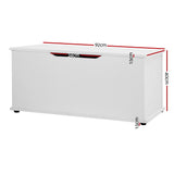 Keezi Kids Blanket Toy Box Storage Chest White