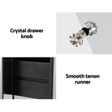 Quenn Mirrored Bedside Table Silver