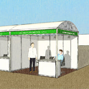 Prefabricated Booth in Open Arena