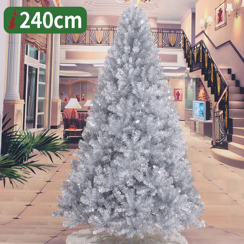 Christmas tree Silver Christmas Tree 2 3 4 5 6 7 8 FT Decoration Undercoated Festival Holiday
