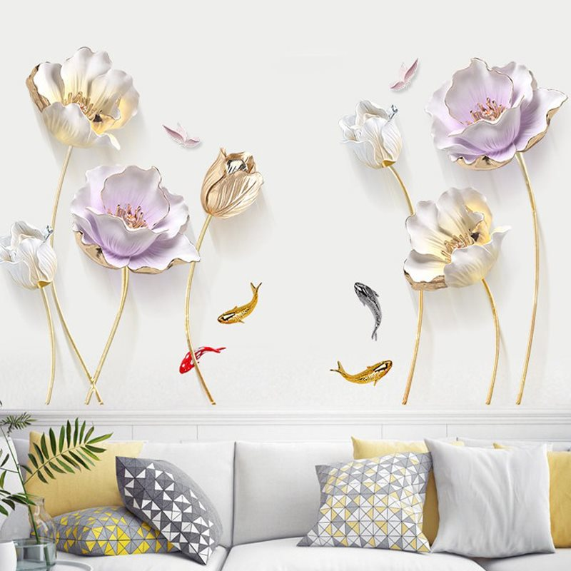 Wall Stickers Autocollant Mural 3D PVC Paysage Naturel