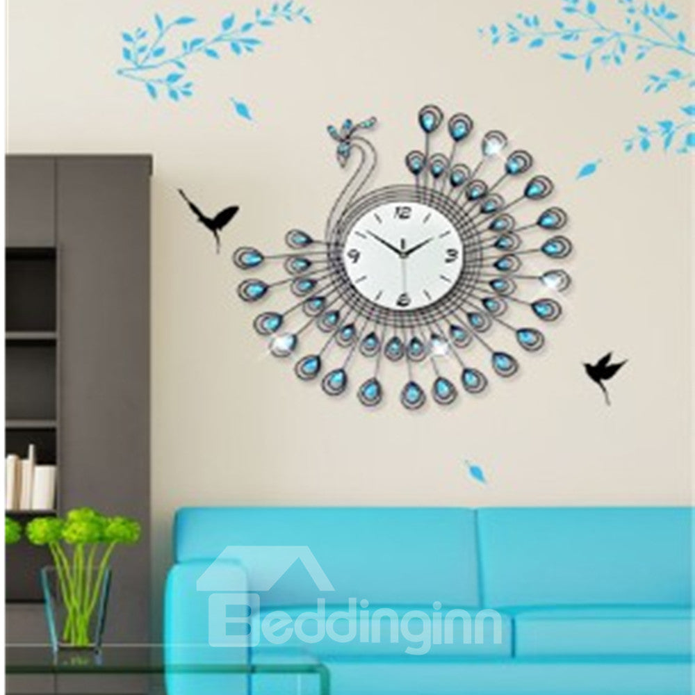Horloge Murale En Design De Superbe Simple Paon