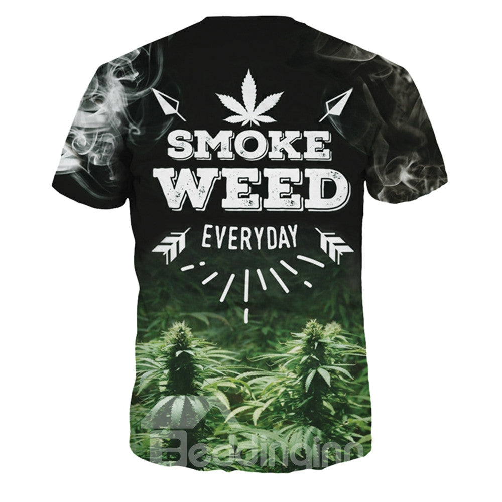T-shirt Unisexe 3D Imprimé Smoke Weed Everyday Manche Courte