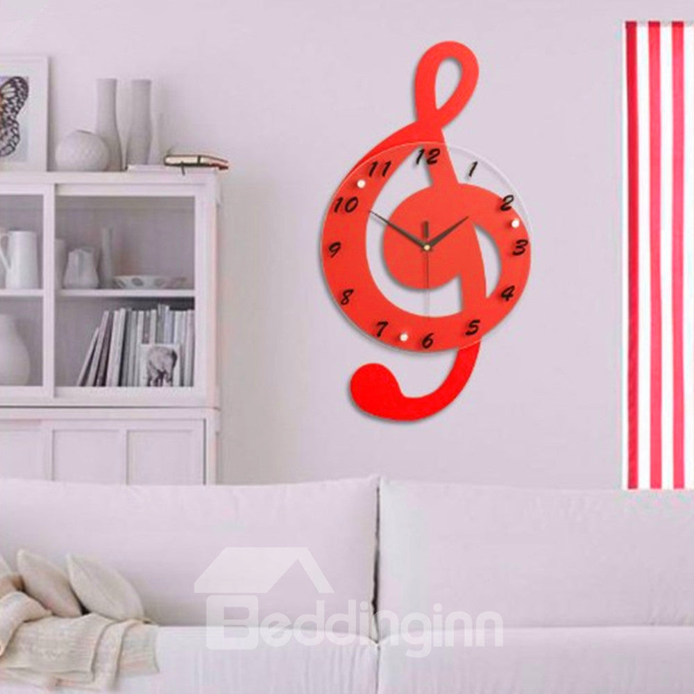 Horloge Murale En Forme De Creatives Note Musical Coloré