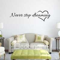 Sticker Mural Maxime Inspirante : Never Stop Dreaming